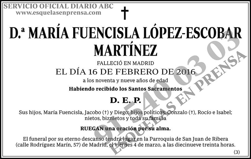María Fuencisla López-Escobar Martínez